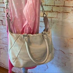 Leibskind Cream Leather Handbag